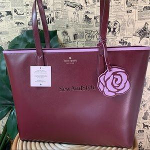 Kate spade Patti Cherrywood Tote Rose Floral Bag